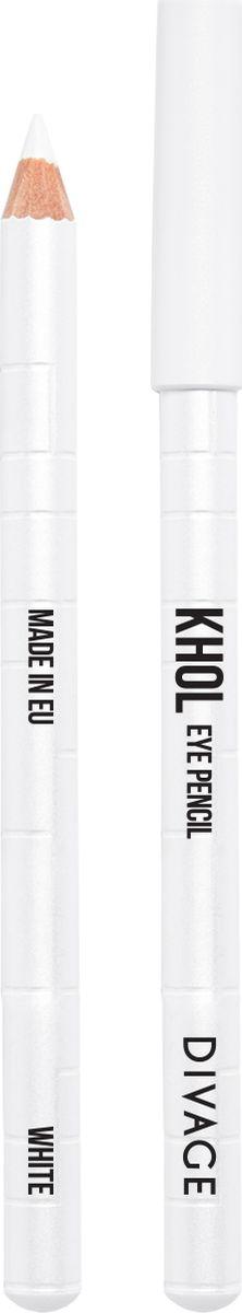 Divage Карандаш Для Глаз Каял, белыйSatin Hair 7 BR730MNНежный кремовый состав карандаша позволяет легко наносить контур на чувствительную слизистую глаза, аккуратно прокрашивая внутреннюю поверхность века. Благодаря деликатному нанесению KHOL не вызывает раздражения или покраснения слизистой, глазки не слезятся. Подводка, выполненная карандашом KHOL, держится около 6 часов, не тускнеет и не размазывается. Формула с натуральными смягчающими компонентами c оливковым маслом и маслом жожоба предотвращает появление морщин и питает кожу. Создавай новые нюансы во взгляде с карандашами KHOL от DIVAGE!