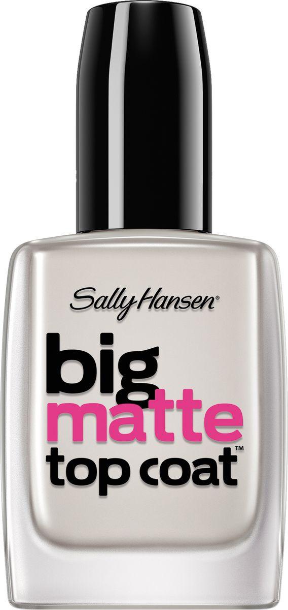 Sally Hansen Nailcare Верхнее покрытие для создания матового эффекта big matte top coat30535268000Мгновенное высыхание, защищает маникюр и продлевает его стойкость, наносится легко и равномерно. Защищает цвет лака от выцветания. Создает эффект матового покрытия.