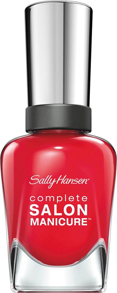 Sally Hansen Salon Manicure Keratin Лак для ногтей тон all fired up 55 14,7 мл30994236550Комплекс Complete Salon Manicure сочетает семь эффектов в одном флаконе, плюс кисточку для безукоризненного покрытия, легкого нанесения и салонных результатов. Эта формула всё-в-одном обеспечивает до 10 дней устойчивого к сколам покрытия и включает основу, средство для роста, вдохновленный подиумом цвет, топ, финишное покрытие с гелевым сиянием, устойчивость к сколам и укрепляющее средство с кератиновым комплексом, делающим ногти до 64% сильнее. Это всё, что вам нужно, чтобы достичь профессиональных результатов при окрашивании ногтей на дому!