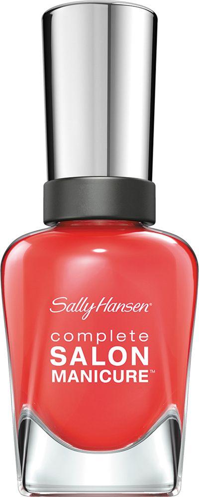 Sally Hansen Salon Manicure Keratin Лак для ногтей тон kook a mango 560 14,7 мл30994236560Комплекс Complete Salon Manicure сочетает семь эффектов в одном флаконе, плюс кисточку для безукоризненного покрытия, легкого нанесения и салонных результатов. Эта формула всё-в-одном обеспечивает до 10 дней устойчивого к сколам покрытия и включает основу, средство для роста, вдохновленный подиумом цвет, топ, финишное покрытие с гелевым сиянием, устойчивость к сколам и укрепляющее средство с кератиновым комплексом, делающим ногти до 64% сильнее. Это всё, что вам нужно, чтобы достичь профессиональных результатов при окрашивании ногтей на дому!