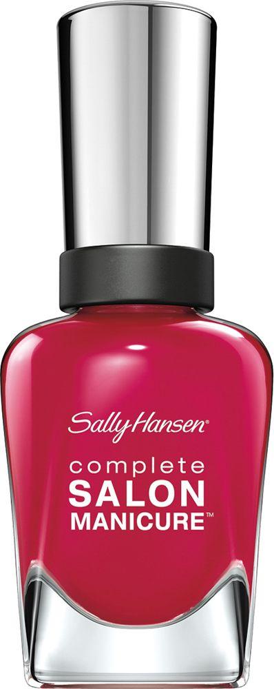 Sally Hansen Salon Manicure Keratin Лак для ногтей тон aria red-y # 14,7 млУТ000000909Комплекс Complete Salon Manicure сочетает семь эффектов в одном флаконе, плюс кисточку для безукоризненного покрытия, легкого нанесения и салонных результатов. Эта формула всё-в-одном обеспечивает до 10 дней устойчивого к сколам покрытия и включает основу, средство для роста, вдохновленный подиумом цвет, топ, финишное покрытие с гелевым сиянием, устойчивость к сколам и укрепляющее средство с кератиновым комплексом, делающим ногти до 64% сильнее. Это всё, что вам нужно, чтобы достичь профессиональных результатов при окрашивании ногтей на дому!