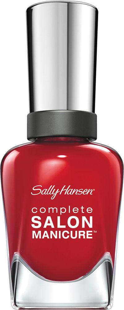 Sally Hansen Salon Manicure Keratin Лак для ногтей тон right said red 570 14,7 млPMF3000Комплекс Complete Salon Manicure сочетает семь эффектов в одном флаконе, плюс кисточку для безукоризненного покрытия, легкого нанесения и салонных результатов. Эта формула всё-в-одном обеспечивает до 10 дней устойчивого к сколам покрытия и включает основу, средство для роста, вдохновленный подиумом цвет, топ, финишное покрытие с гелевым сиянием, устойчивость к сколам и укрепляющее средство с кератиновым комплексом, делающим ногти до 64% сильнее. Это всё, что вам нужно, чтобы достичь профессиональных результатов при окрашивании ногтей на дому!