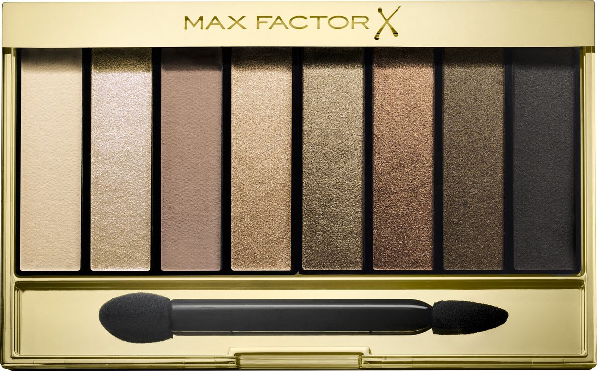 Max Factor Тени для век Masterpiece Nude Palette, Тон 02 golden nudesFCA0010708-04Max Factor Masterpiece Nude Palette— это универсальная палитра теней для придания выразительности глазам. Благодаря восьми идеально подобранным оттенкам ты можешь создать гламурный макияж глаз в стиле «нюд». Идеально подобранные оттенки теней, от приглушенных до насыщенных, позволяют подчеркнуть выразительность глаз, создавая множество образов— от повседневных нюдовых до соблазнительных смоки. Формула: Запеченные тени отдают больше пигмента для более яркого, насыщенного цвета. Тени из палетки легко накладываются и имеют бархатистую текстуру. Они делятся на матовые, шиммерные и блестящие. Выбери из трех палеток ту, которая подходит твоему тону кожи. Найди палитру, которая идеально подходит для твоего тона кожи: Cappuccino Nudes для теплых тонов кожи; Rose Nudes для холодных тонов кожи; Golden Nudes для темных тонов кожи.