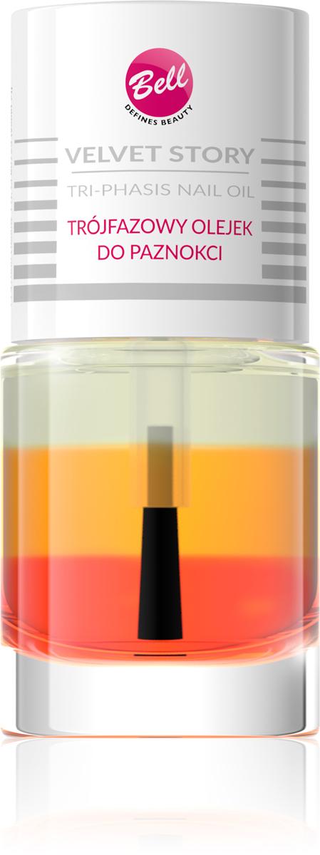 Bell Трехфазное Масло Для Ногтей Velvet Story, Тон 01FS-00897Масло, разглаживающее кутикулу, со сладким ароматом. Входящее в состав масло лесного ореха поддерживает защитный барьер кожи, увлажняет и предотвращает ее высушивание. Улучшает вид и состояние ногтей. Формула продукта легкая и не клеится. Перед использованием встряхните, чтобы перемешать трехфазную формулу. Нанесите небольшое количество у основания ногтя и распространите его, массируя кутикулу.