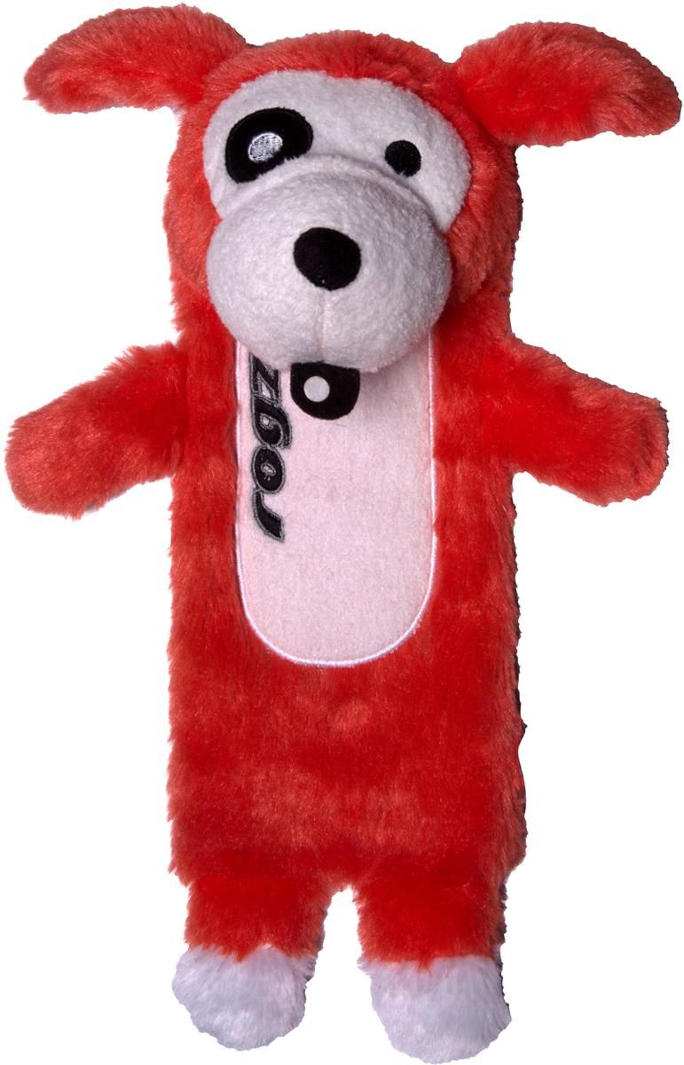 Игрушка для собак Rogz Thinz. Собака, цвет: красный, длина 26 смGLG052Игрушка для собак Rogz Thinz. Собака предназначена для животных, которые любят играть в Поймай-принеси. Есть возможность поместить в игрушку пластиковую бутылку для дополнительного интереса у собаки. Небольшой вес изделия. Игрушка не травмирует зубы и десны.Удобна для переноски животных.Внутри игрушки – пищалка, что поддерживает интерес животного к игре.