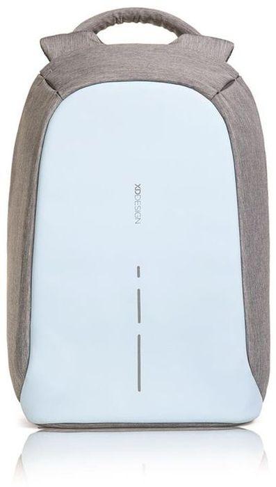 Рюкзак для ноутбука XD design Bobby Compact, до 14, цвет: серый, голубой, 11 л8-083547780-7780Рюкзак для ноутбука до 14 XD design Bobby Compact - это второе поколение противоугонного рюкзака меньшего размера. Несмотря на то, что габариты изделия стали меньше, благодаря продуманному расположению и устройству отделений влезет все, что может пригодиться в течение дня.Преимущества: • Полная защита от карманников: не открыть, не порезать.• Вшитый USB-порт для зарядки гаджетов.• Светоотражающие полосы.• Супер-легкий: на 25% легче аналогов.• Отделение для ноутбука до 14.• Отделение для планшета.• Чехол-кошелек для мелких аксессуаров.• Крепления для бутылки воды и камеры.