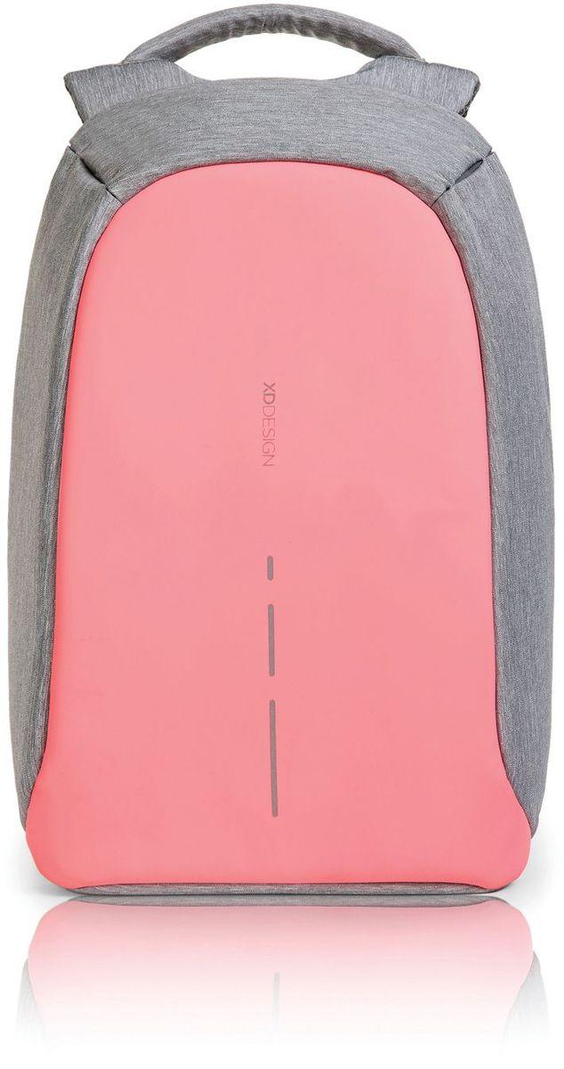 Рюкзак для ноутбука XD design Bobby Compact, до 14, цвет: серый, розовый, 11 лP705.534Рюкзак для ноутбука до 14 XD design Bobby Compact - это второе поколение противоугонного рюкзака меньшего размера. Несмотря на то, что габариты изделия стали меньше, благодаря продуманному расположению и устройству отделений влезет все, что может пригодиться в течение дня.Преимущества: • Полная защита от карманников: не открыть, не порезать.• Вшитый USB-порт для зарядки гаджетов.• Светоотражающие полосы.• Супер-легкий: на 25% легче аналогов.• Отделение для ноутбука до 14.• Отделение для планшета.• Чехол-кошелек для мелких аксессуаров.• Крепления для бутылки воды и камеры.