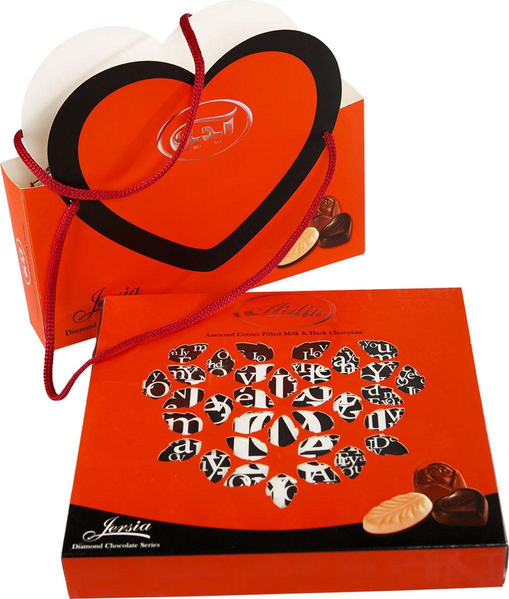 Aidin конфеты ассорти из темного и молочного шоколада, 195 г
