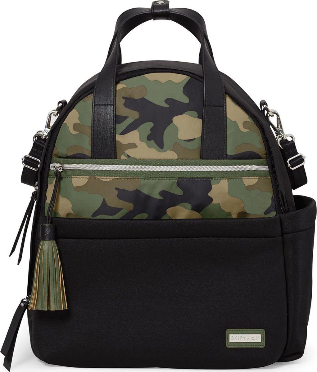 Skip Hop Рюкзак для мамы Nolita Neoprene Diaper Backpack цвет черный зеленый SH 204303