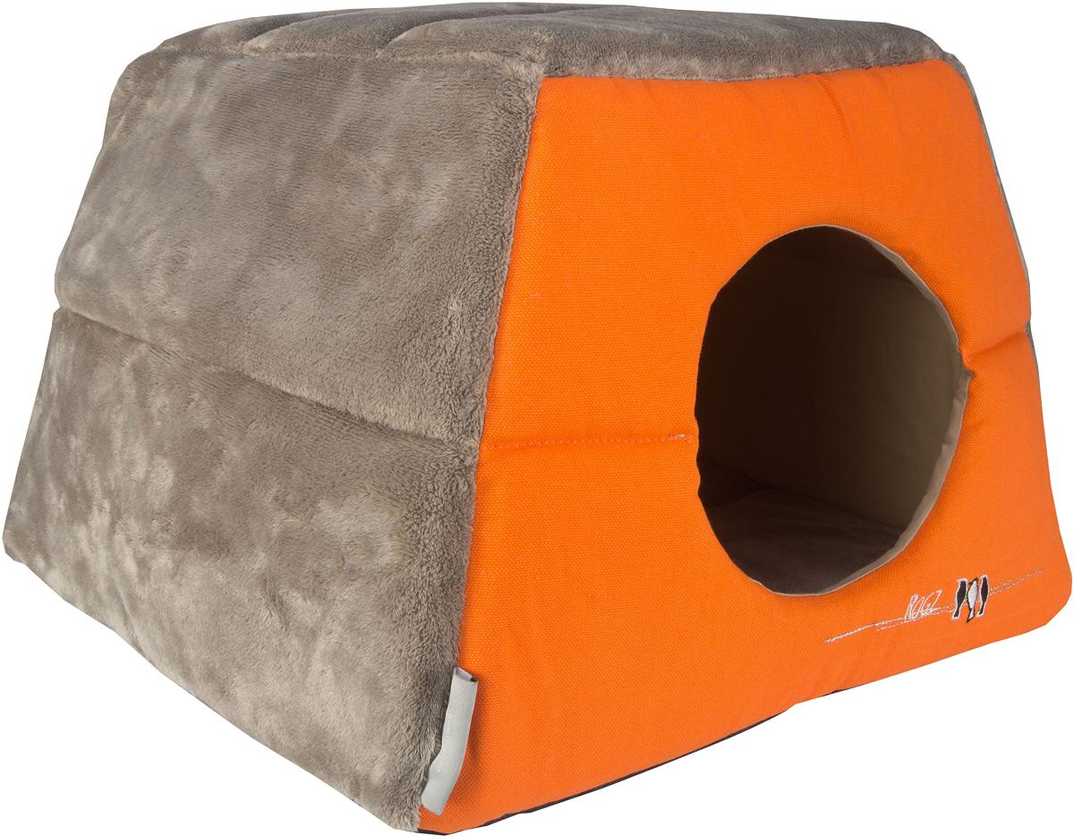 Домик-трансформер для кошек Rogz  Igloo , цвет: оранжевый, 41 х 41 х 30 см - Лежаки, домики, спальные места