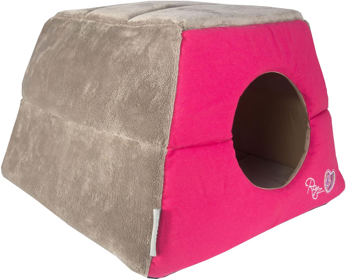 Домик-трансформер для кошек Rogz Igloo, цвет: розовый, 41 х 41 х 30 см0120710Все знают, как маленькие домашние любимцы любят прятаться и наслаждаться отдыхом в уютном и закрытом от глаз укрытии.Домик-трансформер для кошек Rogz Igloo создан для того, чтобы обеспечить самый сладкий сон вашему питомцу.Два в одном: одно движение и уютный домик превращается в комфортный лежак! Идеальное убежище для вашей кошки, когда она хочет отдохнуть.