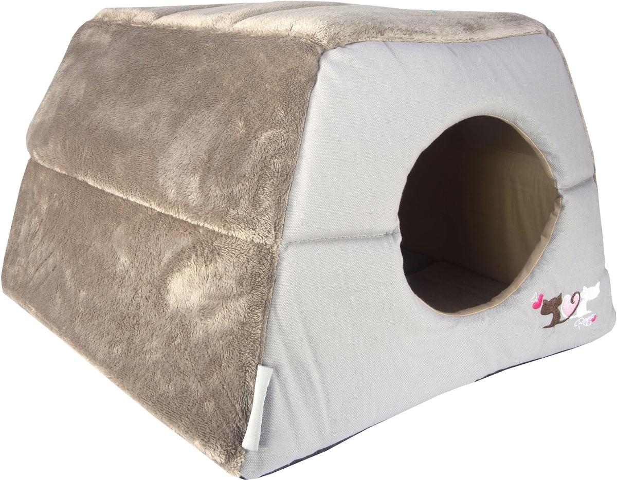 Домик-трансформер для кошек Rogz Igloo, цвет: серый, 41 х 41 х 30 смCIP01Все знают, как маленькие домашние любимцы любят прятаться и наслаждаться отдыхом в уютном и закрытом от глаз укрытии.Домик-трансформер для кошек Rogz Igloo создан для того, чтобы обеспечить самый сладкий сон вашему питомцу.Два в одном: одно движение и уютный домик превращается в комфортный лежак! Идеальное убежище для вашей кошки, когда она хочет отдохнуть.