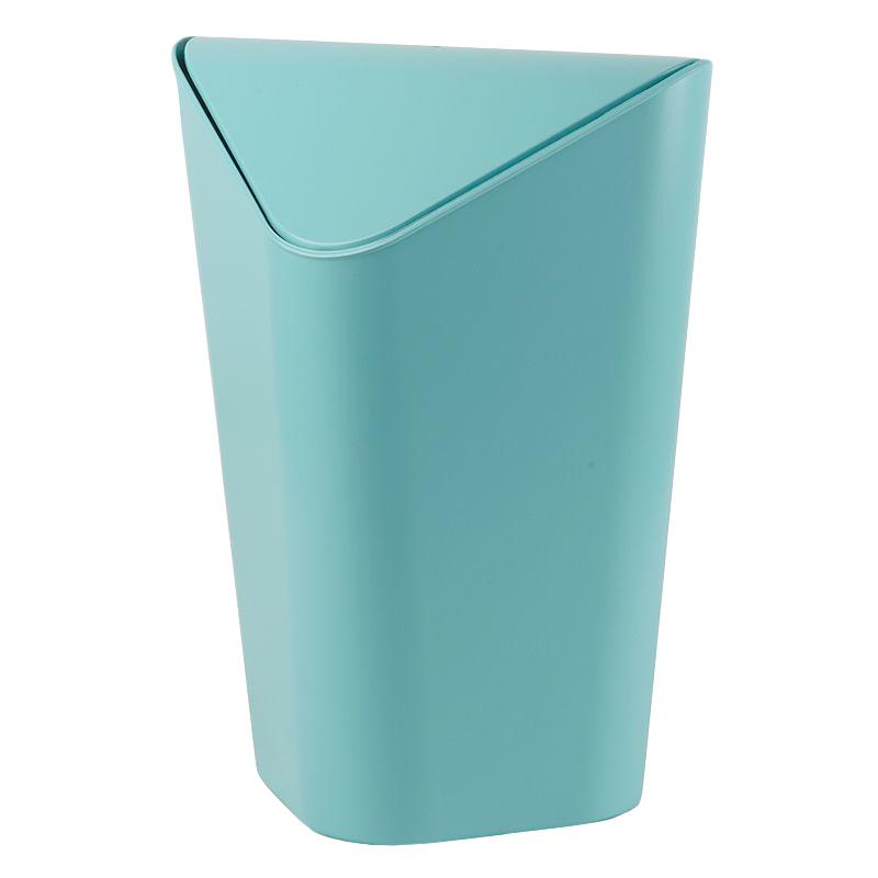 Контейнер для мусора Umbra Corner, цвет: голубой, 10 л531-105Отсутствие пространства - проблема вашего дома? Ничего, ведь есть компактная и удобная корзина для мусора, которая сэкономит место даже в самых маленьких помещениях.Ванная комната, туалет, кабинет или кухня - уголок найдется везде. Удобная качающаяся крышка обеспечивает простоту использования и очистки корзины. Пожалуй, вы сами удивитесь, как обходились без такой удобной вещи!Объем: 10 литров.
