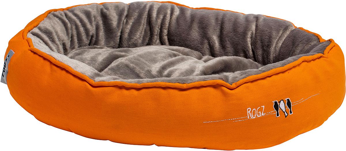 Лежак для кошек Rogz Snug Podz, 13 х 56 х 39 см, цвет: оранжевыйDM-160299-2Лежак для кошек Rogz Snug Podz имеет красивый дизайн.Высококачественный хлопковыйобеспечивает мягкость и комфорт.Флисовая подкладка.Машинная стирка.
