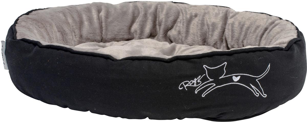Лежак для кошек Rogz Snug Podz, 13 х 56 х 39 см, цвет: черный