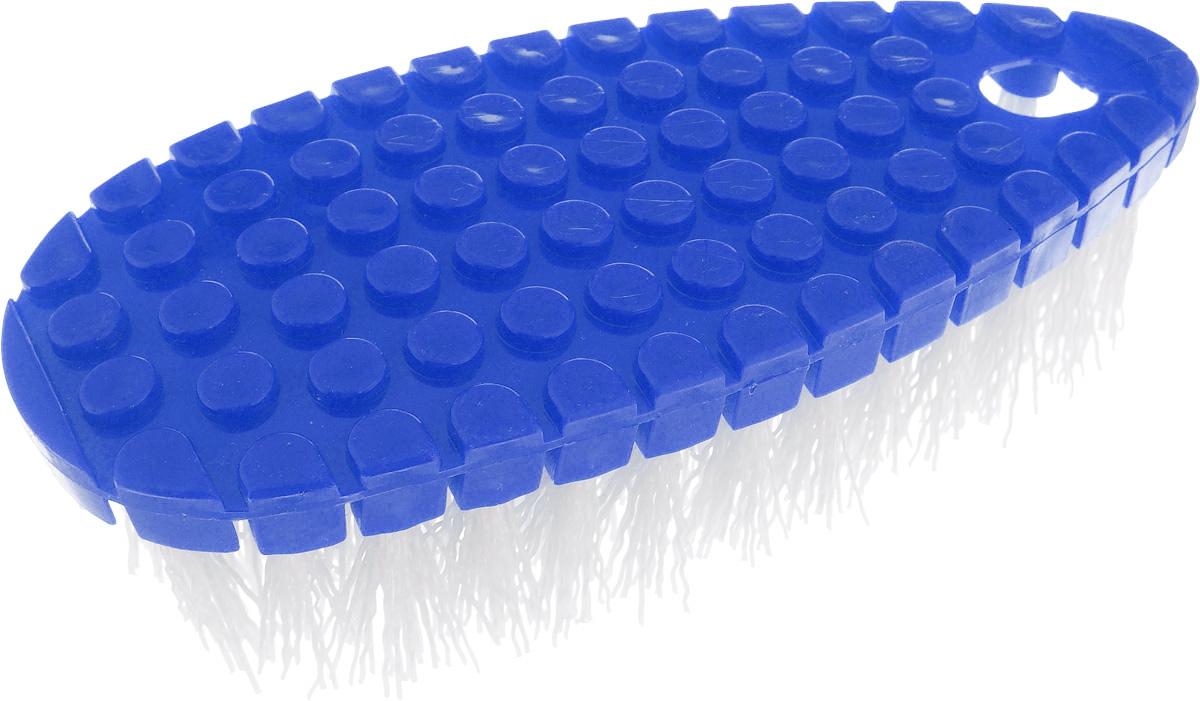 Щетка Home Queen Флекси, гибкая, цвет: синий, белый, 16 х 7 х 3,5 смVCA-00Щетка Home Queen Флекси, выполненная из полипропилена, подходит для очистки поверхностей кухни и ванной комнаты. Благодаря гибкому основанию, изделие легко справится с труднодоступными загрязнениями.Размер щетки: 16 см х 7 см х 3,5 см.