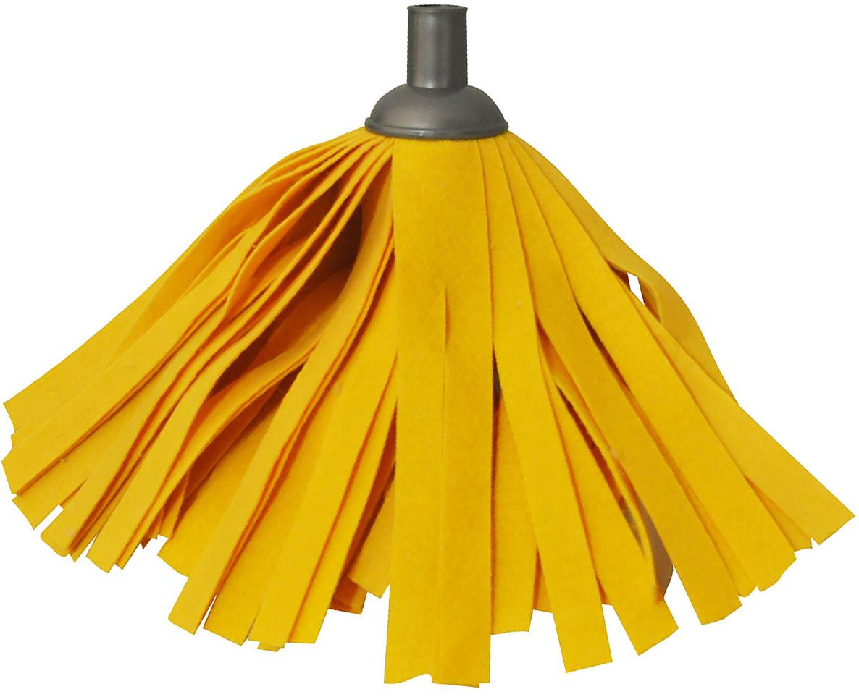 Насадка для швабры Home Queen, цвет: оранжевый. 58162DAVC150Сменная насадка для швабры Home Queen,выполненная из полиэстера и полипропилена, подходит длямытья всех видов напольных поверхностей.Изделие имеет свойство впитыватьбольшое количество влаги. Не оставляет ворсиноки разводов. Форма насадкипозволяет справиться с труднодоступнымизагрязнениями.