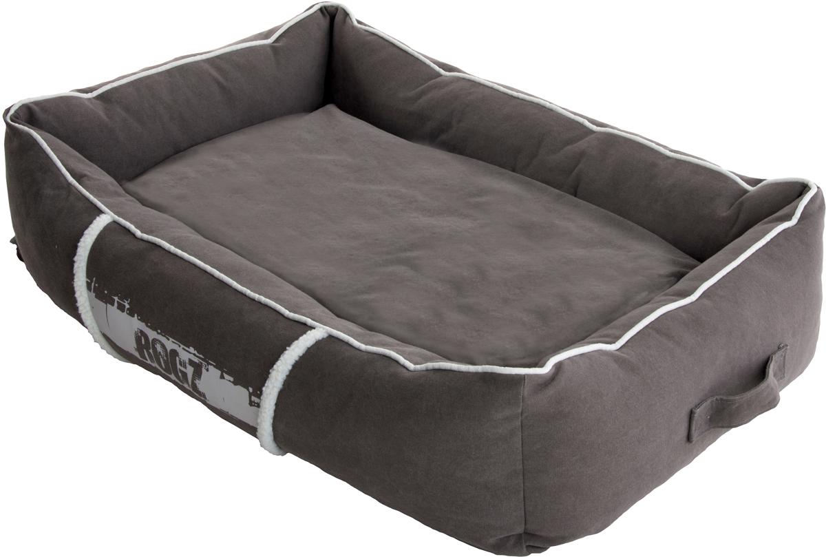 Лежак для собак Rogz Lounge Pod, 27 х 90 х 59 см12171996Суперкомфортный лежак для собак Rogz Lounge Pod с бортами и двусторонней подушкой.Имеется съемный чехол, который легко стирается.Высокая прочность.