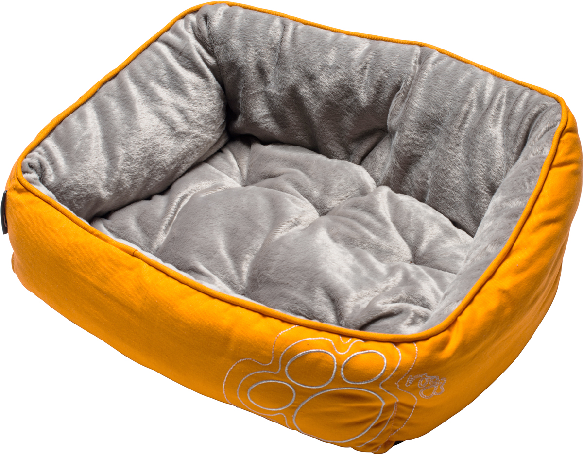 Лежак для собак Rogz Luna Podz, цвет: оранжевый, 25 х 52 х 38 смFPXLCFДвусторонняя подушка-лежак для собак Rogz Luna Podz имеет уникальный дизайн. Изделие очень мягкое и уютное.Такой лежак подарит комфорт вашему питомцу.