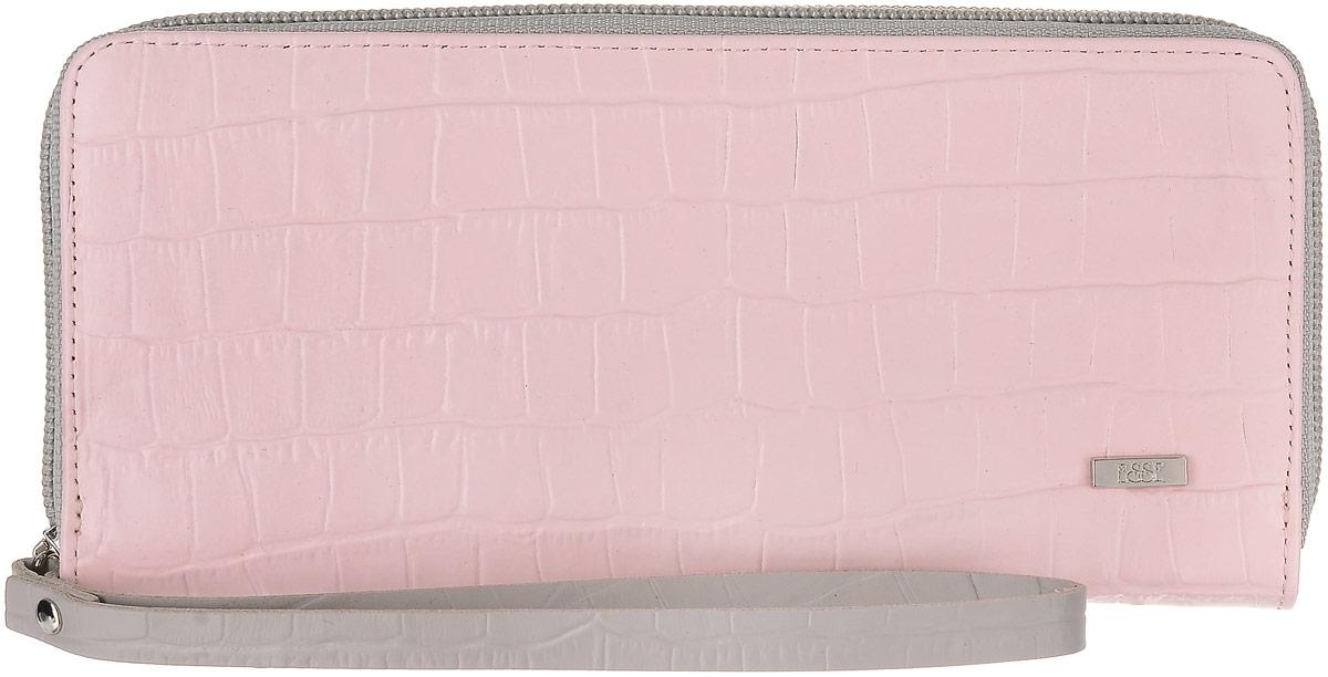 Кошелек женский Esse Джой, цвет: розовый. GJOJ00-00ML00-FI905O-K100AQYHA03387-KRP0Кошелек популярной конструкции, закрывающийся на молнию. Внутри 3 основных отделения для купюр, отделение для мелочи на молнии, 2 открытых кармана для купюр и 8 карманов для кредитных карт.