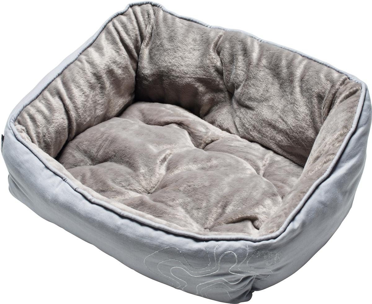 Лежак для собак Rogz Luna Podz, цвет: серый, 25 х 52 х 38 смUPS04Двусторонняя подушка-лежак для собак Rogz Luna Podz имеет уникальный дизайн. Изделие очень мягкое и уютное.Такой лежак подарит комфорт вашему питомцу.
