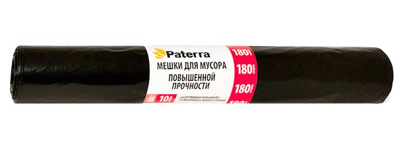 Мешки для мусора Paterra Profi, 180 л, 10 шт3801Мешки Paterra Profi, выполненные извысокопрочного и эластичного полиэтилена, обеспечатчистоту и гигиену в квартире. Они удобны для сбора иутилизации мусора,занимают мало места, практичны в использовании. Благодаря удобным размерам, мешки легко вкладываются в ведро.Количество: 10 шт.