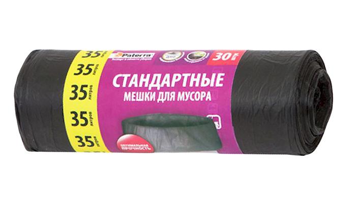 Мешки для мусора Paterra, цвет: черный, 35 л, 30 шт106-060Мешки Paterra, выполненные извысокопрочного и эластичного полиэтилена, обеспечатчистоту и гигиену в квартире. Они удобны для сбора иутилизации мусора,занимают мало места, практичны в использовании. Благодаря удобным размерам, мешки легко вкладываются в ведро.Количество: 30 шт.Размер мешка: 52 х 57 см.