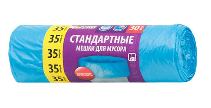 Мешки для мусора Paterra, цвет: синий, 35 л, 30 шт106-054Мешки Paterra, выполненные извысокопрочного и эластичного полиэтилена, обеспечатчистоту и гигиену в квартире. Они удобны для сбора иутилизации мусора,занимают мало места, практичны в использовании. Благодаря удобным размерам, мешки легко вкладываются в ведро.Количество: 30 шт.Размер мешка: 52 х 57 см.