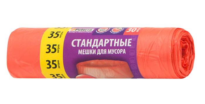 Мешки для мусора Paterra, цвет: красный, 35 л, 30 шт787502Мешки Paterra, выполненные извысокопрочного и эластичного полиэтилена, обеспечатчистоту и гигиену в квартире. Они удобны для сбора иутилизации мусора,занимают мало места, практичны в использовании. Благодаря удобным размерам, мешки легко вкладываются в ведро.Количество: 30 шт.Размер мешка: 52 х 57 см.