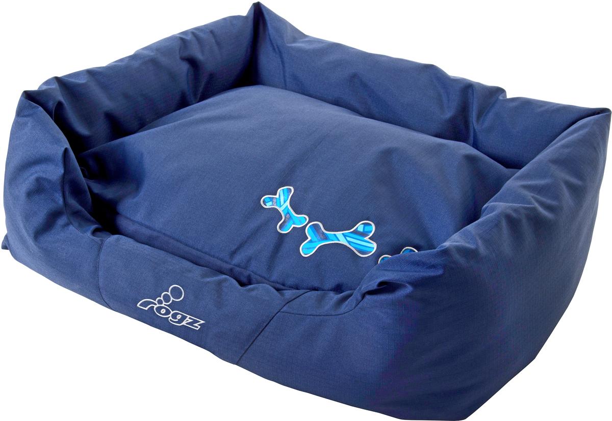 Лежак для собак Rogz Spice Podz, цвет: синий, 29 х 90 х 59 см. PPLCD0120710Лежак с бортиком и двусторонней подушкой.Особопрочная ткань Ripstop с водоотталкивающим покрытием обладает также грязеотталкивающими свойствами.Дизайн 2 в 1.Съемный чехол на молнии.Высокая надёжность и долговечность.Машинная стирка. Полиэстер, хлопок, полиэстер с покрытием рип-стоп.