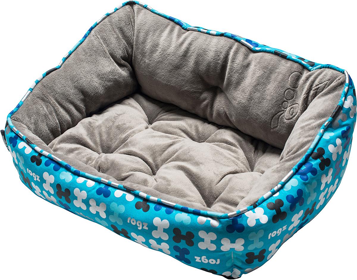 Лежак для собак Rogz Trendy Podz, цвет: голубой, 29 х 56 х 43 см0120710Очень мягкий и комфортный лежак для собак Rogz Trendy Podz.Флисовые бортики внутри изделия.Двусторонняя подушка.Уникальный дизайн.Подвергается стирке.