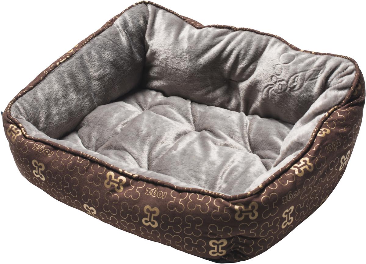 Лежак для собак Rogz Trendy Podz, цвет: коричневый, 29 х 56 х 43 см0120710Очень мягкий и комфортный лежак для собак Rogz Trendy Podz.Флисовые бортики внутри изделия.Двусторонняя подушка.Уникальный дизайн.Подвергается стирке.