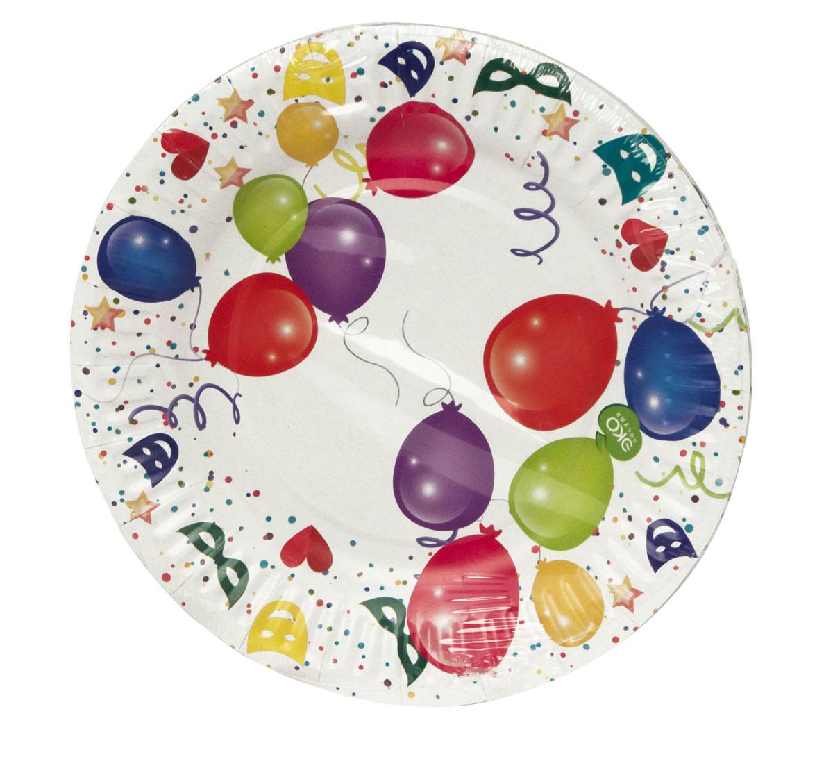 Набор тарелок Paterra Детский праздник, бумажные, диаметр 18 см, 6 штVT-1520(SR)Набор тарелок Paterra Детский праздник состоит из 6 тарелок и предназначен для украшения и сервировки праздничного стола к детскому празднику. Пригодны для горячих блюд. Тарелки прочные, благодаря качеству и высокой плотности используемой при их изготовлении бумаги.Тарелки Paterra Детский праздник декорированы ярким дизайном. Они украсят любой детский праздник.Диаметр тарелки: 18 см.Количество в упаковке: 6 шт.
