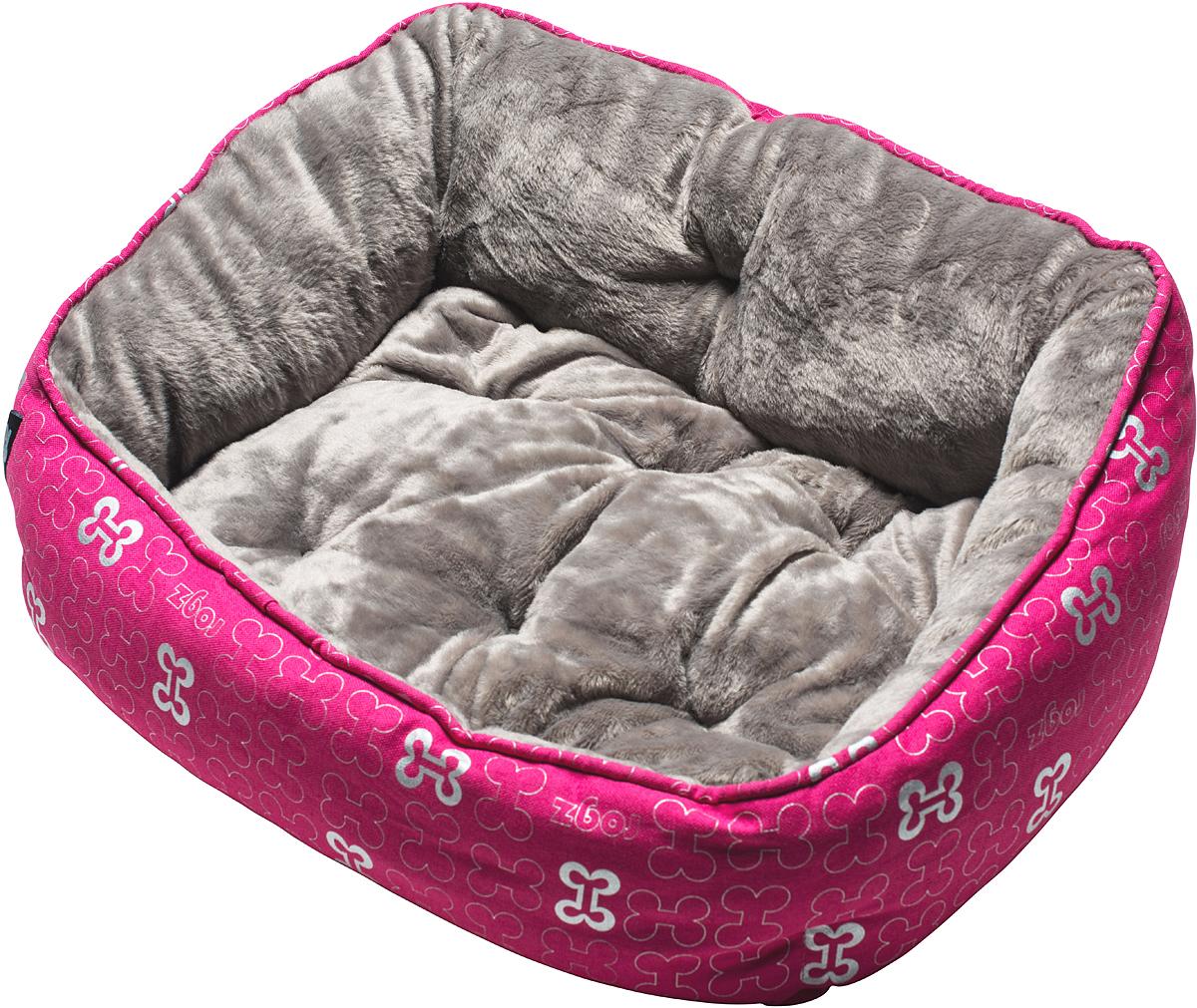 Лежак для собак Rogz Trendy Podz, цвет: розовый, 29 х 56 х 43 смLPL02Очень мягкий и комфортный лежак для собак Rogz Trendy Podz.Флисовые бортики внутри изделия.Двусторонняя подушка.Уникальный дизайн.Подвергается стирке.