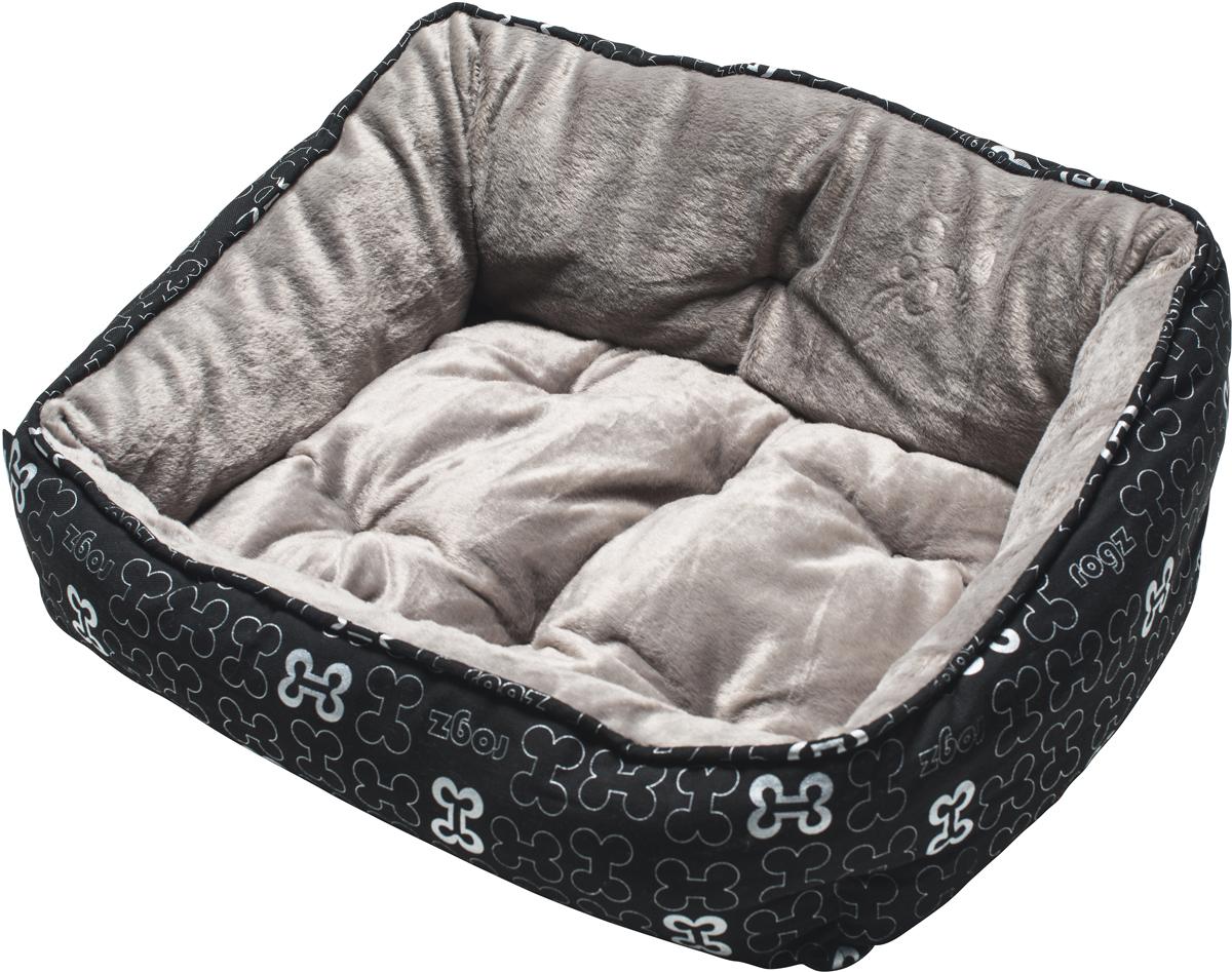 Лежак для собак Rogz Trendy Podz, цвет: черный, 29 х 56 х 43 смRPM01Очень мягкий и комфортный лежак для собак Rogz Trendy Podz.Флисовые бортики внутри изделия.Двусторонняя подушка.Уникальный дизайн.Подвергается стирке.