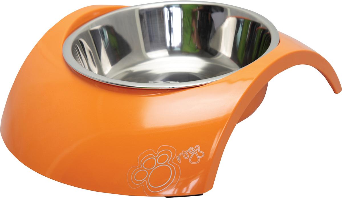 Миска для собак Rogz Luna, цвет: оранжевый, 350 мл12171996Миска для собак Rogz Luna 2 в 1: корпус из меламина и вынимаемая миска из нержавеющей стали.Оригинальный дизайн.Ударопрочный материал изделия нетоксичен и полностью отвечает всем гигиеническим требованиям.Высокая защита от коррозии и воздействия УФ-лучей.Основание миски выполнено из натурального, нетоксичного силикона, что позволяет избежать скольжения по полу.Возможна мойка в посудомоечной машине. Материал: нержавеющая сталь, меламин, силикон (дно).