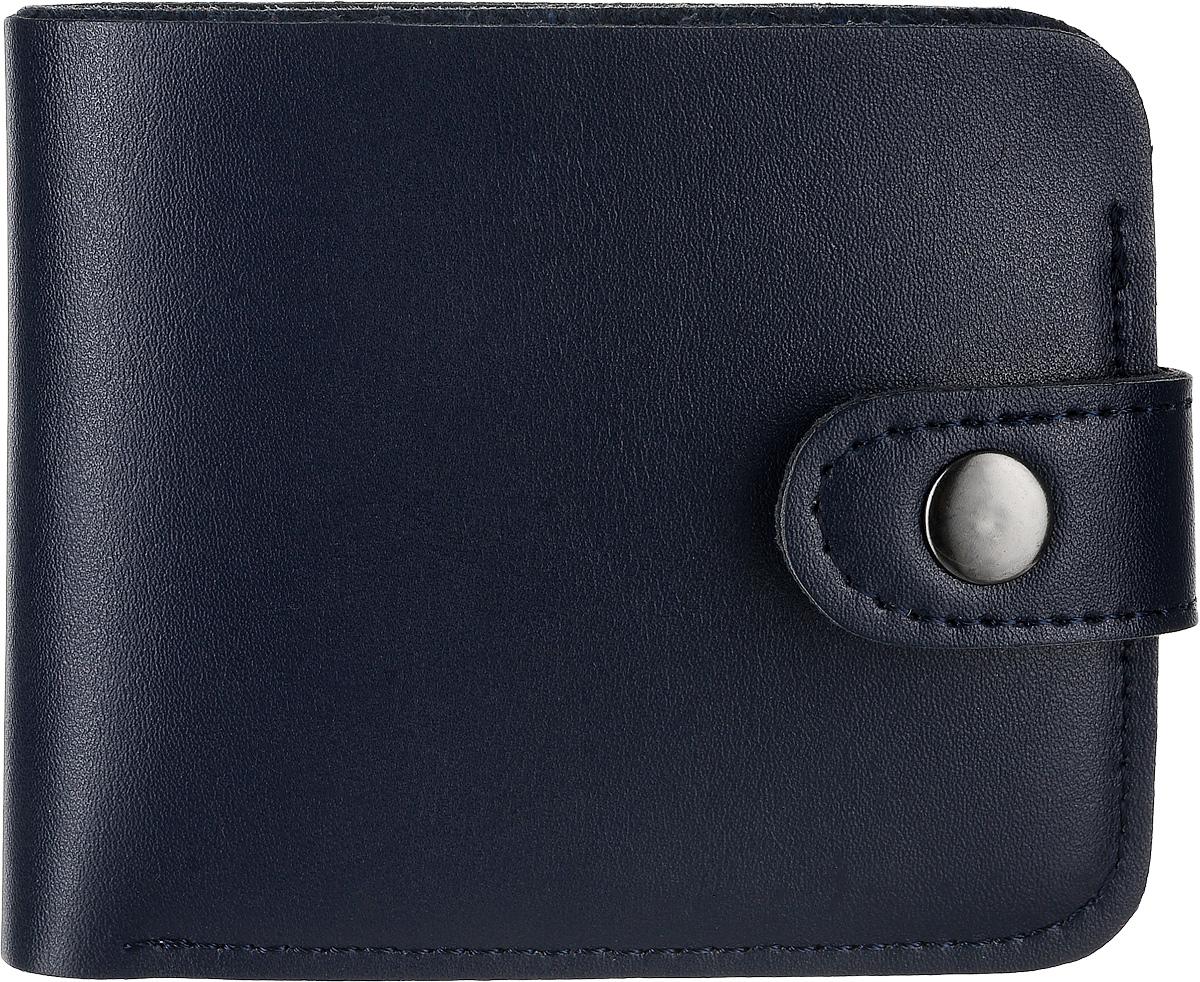 Кошелек Kawaii Factory, цвет: темно-синий. KW057-0006191-022_516Классический складной кошелек от Kawaii Factory, изготовленный из экокожи, прекрасно впишется в любой стиль. Он оснащен одним отделением для купюр, прорезными кармашками для карточек. Аксессуар поместится даже в миниатюрную сумочку.Кошелек на застежке-кнопке отличается строгим эргономичным дизайном и универсальностью.