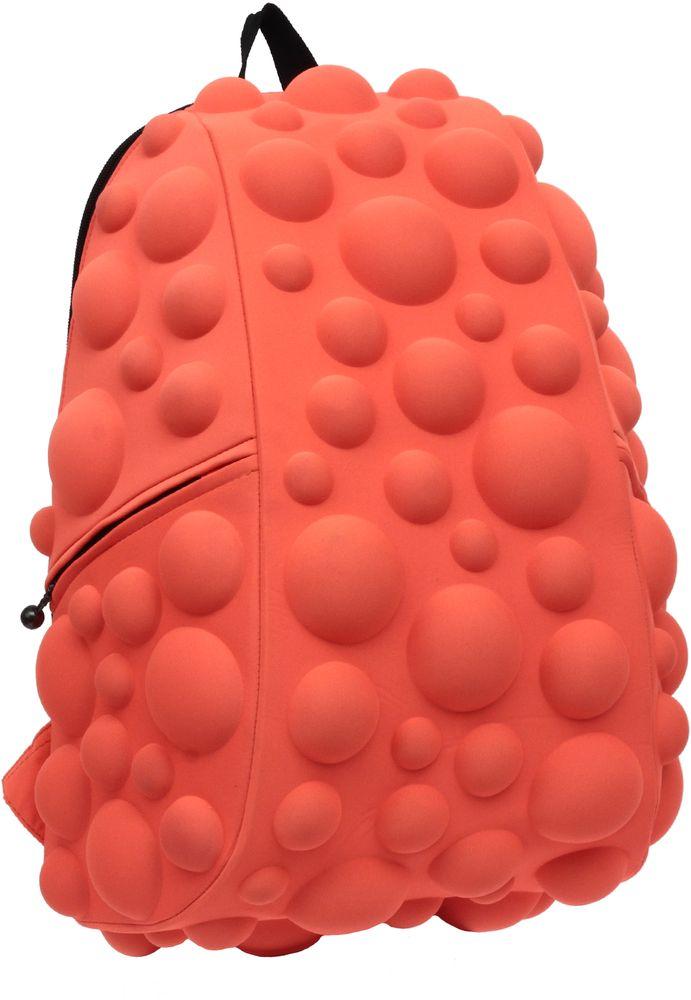 Рюкзак городской MadPax Bubble Full, цвет: оранжевый, 32 лГризлиРюкзаки серии Full отлично подойдут для старшеклассников и взрослых. Яркий, с оригинальным 3D дизайном, ортопедической спинкой он станет незаменимым спутником любого школьника и взрослого.Рюкзак удобен не только для использования в школе, но и отлично подойдет для катания на роликах, скейтах, велосипедах. Он идеален для всех кто любит активный образ жизни.Все 3D элементы мягкие и вы можете не беспокоится о своей безопасности и безопасности окружающих.Ортопедическая спинка поможет избежать искривления позвоночника. Мягкие воздухопроницаемые широкие лямки (6 см) с нагрудным ремнем правильно распределят вес.Особенности:одно основное отделение на молнииотделение для ноутбука до 17мягкие воздухопроницаемые широкие лямки (6 см)нагрудный ременьортопедическая спинка с мягкой обивкойдва боковых кармана на молнии