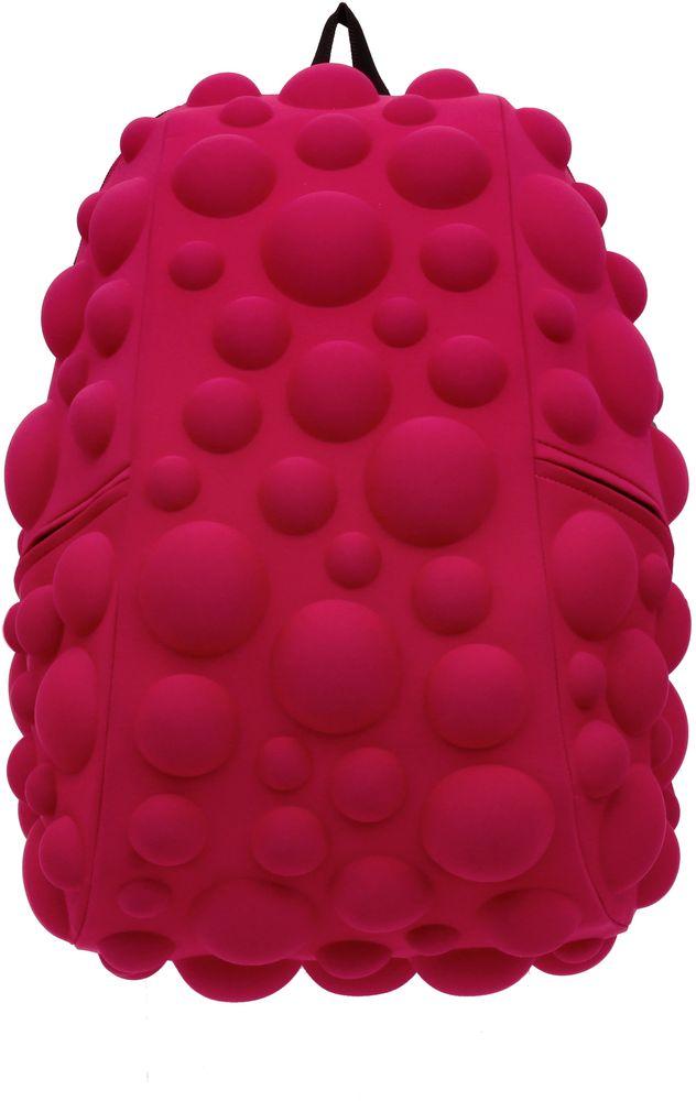 Рюкзак городской MadPax Bubble Full, цвет: розовый, 32 лRivaCase 7560 blueРюкзаки серии Full отлично подойдут для старшеклассников и взрослых. Яркий, с оригинальным 3D дизайном, ортопедической спинкой он станет незаменимым спутником любого школьника и взрослого.Рюкзак MadPax Bubble Full удобен не только для использования в школе, но и отлично подойдет для катания на роликах, скейтах, велосипедах. Он идеален для всех кто любит активный образ жизни.Все 3D элементы мягкие и вы можете не беспокоится о своей безопасности и безопасности окружающих.Ортопедическая спинка поможет избежать искривления позвоночника. Мягкие воздухопроницаемые широкие лямки (6 см) с нагрудным ремнем правильно распределят вес.Особенности:одно основное отделение на молнииотделение для ноутбука до 17мягкие воздухопроницаемые широкие лямки (6 см)нагрудный ременьортопедическая спинка с мягкой обивкойдва боковых кармана на молнии