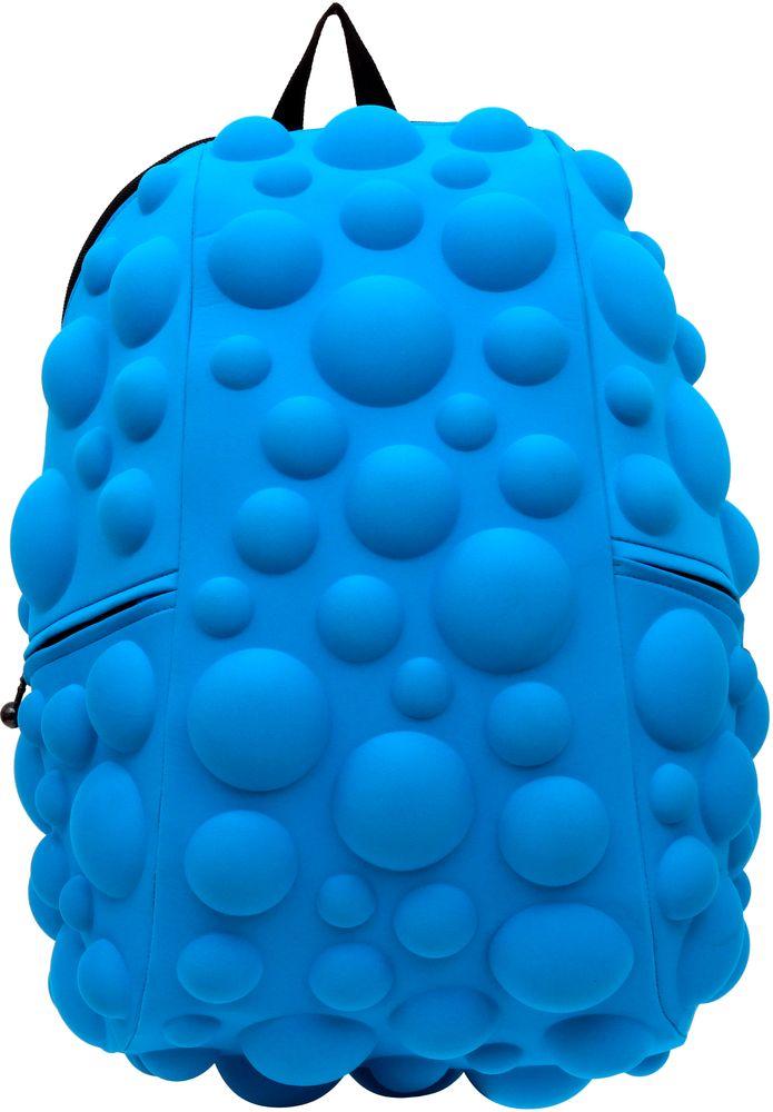 Рюкзак городской MadPax Bubble Full, цвет: голубой, 32 лГризлиРюкзаки серии Full отлично подойдут для старшеклассников и взрослых. Яркий, с оригинальным 3D дизайном, ортопедической спинкой он станет незаменимым спутником любого школьника и взрослого.Рюкзак удобен не только для использования в школе, но и отлично подойдет для катания на роликах, скейтах, велосипедах. Он идеален для всех кто любит активный образ жизни.Все 3D элементы мягкие и вы можете не беспокоится о своей безопасности и безопасности окружающих.Ортопедическая спинка поможет избежать искривления позвоночника. Мягкие воздухопроницаемые широкие лямки (6 см) с нагрудным ремнем правильно распределят вес.Особенности:одно основное отделение на молнииотделение для ноутбука до 17мягкие воздухопроницаемые широкие лямки (6 см)нагрудный ременьортопедическая спинка с мягкой обивкойдва боковых кармана на молнии