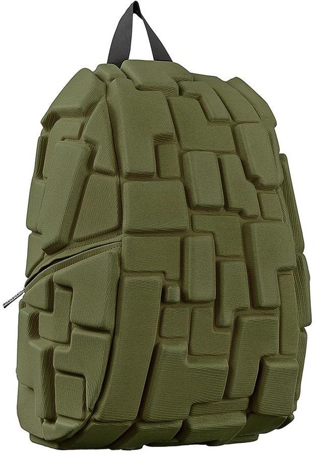Рюкзак городской MadPax Blok Full, цвет: хаки, 32 л1125040Стильный и практичный рюкзак уместный в ритме большого города. Основное отделение закрывается на молнию. Внутри изделия есть отделение для ноутбука с максимальным размером диагонали 17 дюймов. По бокам - два дополнительных кармана на молнии. Модель помимо лямки для переноски в руке, мягких и широких регулируемых бретелей снабжена фиксацией на груди. Полностью вентилируемая и ортопедическая спинка создаёт дополнительный комфорт Вашей спине.