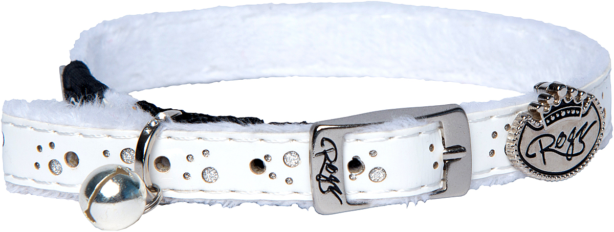 Ошейник для кошек Rogz TrendyCat, цвет: белый, ширина 11 мм. Размер SCB54LОшейник для кошек Rogz TrendyCat имеет мягкую внутреннюю подкладку.Специально разработанный замок легко расстегивается при натяжении, если это необходимо. Например, если ваш питомец застрял на дереве или на заборе.Каждый ошейник обладает уникальной системой, присущей только продукции Rogz для кошек, позволяющей регулировать степень легкости раскрытия замка при различных нагрузках на замок (в зависимости от размера, веса и степени активности животного).