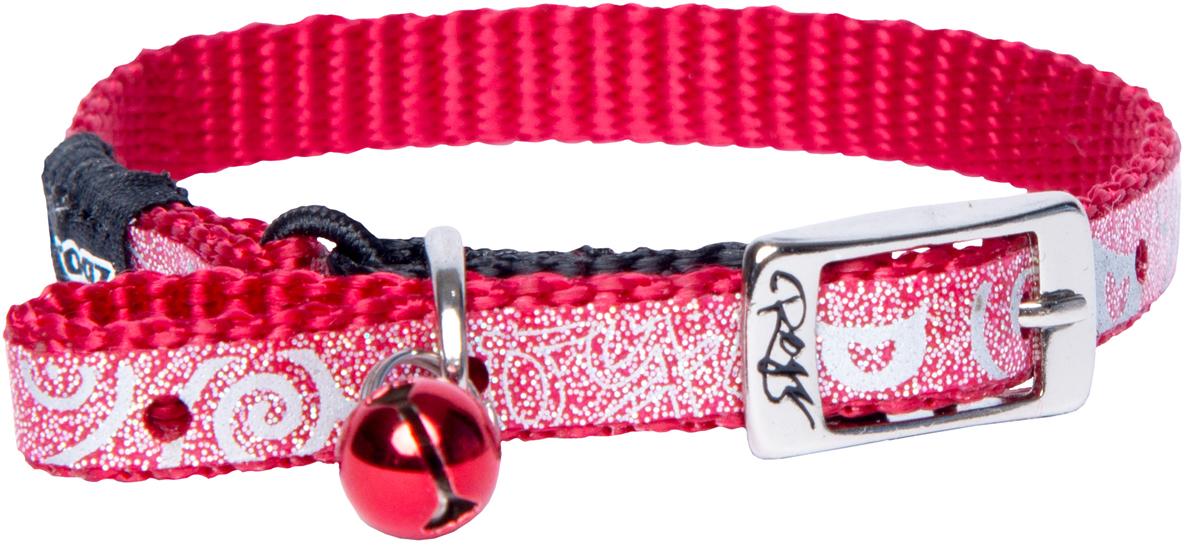 Ошейник для кошек Rogz SparkleCat, цвет: красный, ширина 8 ммCB252CОшейник для кошек Rogz SparkleCat имеет мягкую внутреннюю подкладку.Специально разработанный замок легко расстегивается при натяжении, если это необходимо. Например, если ваш питомец застрял на дереве или на заборе.Каждый ошейник обладает уникальной системой, присущей только продукции Rogz для кошек, позволяющей регулировать степень легкости раскрытия замка при различных нагрузках на замок (в зависимости от размера, веса и степени активности животного).