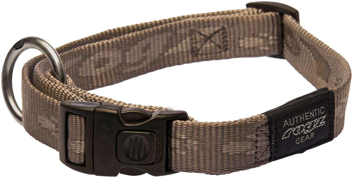 Ошейник для собак Rogz Alpinist, цвет: золотистый, ширина 2 см. Размер LHL03CEОшейник для собак Rogz Alpinist представляет собой мягкую нейлоновую ленту, которая обладает высокой прочностью. Особое плетение полотна способствует увеличению уровня прочности и защиты. Специальная конструкция пряжки Rog Loc - очень крепкая (система Fort Knox). Замок может быть расстегнут только рукой человека. Технология распределения нагрузки позволяет снизить нагрузку на пряжки, изготовленные из титанового пластика, с помощью правильного и разумного расположения грузовых колец.Особые контурные пластиковые компоненты. Специальная округлая форма конструкции позволяет ошейнику комфортно облегать шею собаки.Выполненные специально по заказу Rogz литые кольца гальванически хромированы, что позволяет избежать коррозии и потускнения изделия.