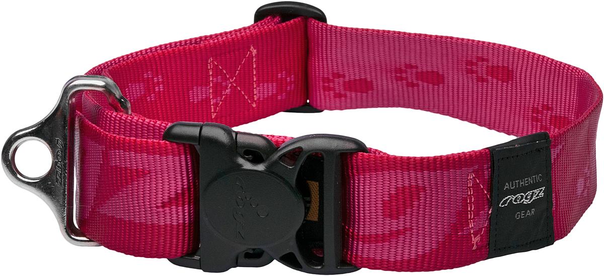 Ошейник для собак Rogz Alpinist, цвет: розовый, ширина 4 см, обхват шеи 52-84 см. Размер XXL0120710Ошейник для собак Rogz Alpinist изготовлен из нейлона, металла и пластика. Особое плетение полотна способствует увеличению уровня прочности и защиты. Специальная конструкция пряжки Rog Loc - очень крепкая (система Fort Knox). Замок может быть расстегнут только рукой человека. Технология распределения нагрузки позволяет снизить нагрузку на пряжки, изготовленные из титанового пластика, с помощью правильного и разумного расположения грузовых колец. Минимальный обхват шеи: 52 см.Максимальный обхват шеи: 84 см.Ширина ошейника: 4 см.