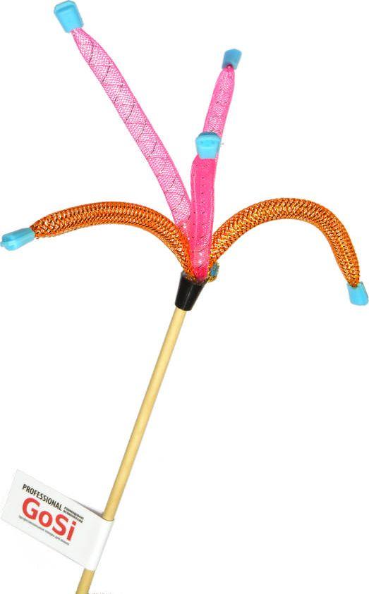 Игрушка-дразнилка для кошек GoSi Трубочки с наконечниками, длина 50 смsh-07002MИгрушка-дразнилка для кошек GoSi представляет собой деревянную палочку, на конце которой прикреплены яркие трубочки с наконечниками. Игрушка поможет развить мускулатуру и реакцию кошки, а также удовлетворит ее охотничий инстинкт. Способствует балансировке нервной системы, повышению мышечного тонуса, правильному развитию скелета. Рекомендуется для совместных игр хозяина с питомцем.Длина игрушки: 50 см.