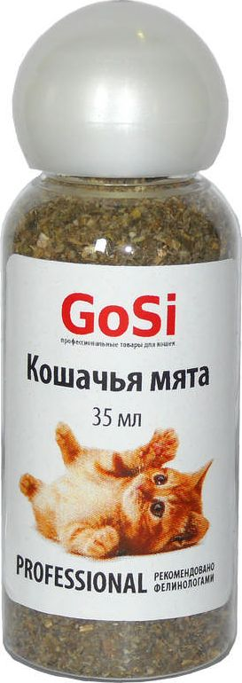 Кошачья мята GoSi, 35 мл0120710Кошачья мята 35мл GoSi, котовник натуральный, положительно влияет на нервную систему, улучшается аппетит, в состав растения входит витамин С. Котовник используют для приучения к месту и когтедралке. Повышает внимание к игрушкам. Применение: нанесите небольшое количество мяты на предмет или поверхность для привлечения внимания.