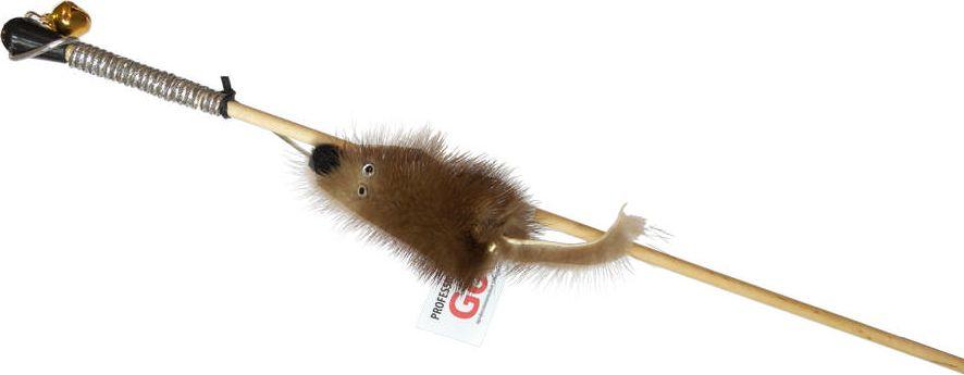 Дразнилка-удочка для кошек GoSi Мышка из норки, длина 50 смsh-07025MИгрушка-удочка для кошек GoSi представляет собой деревянную палочку, на конце которой прикреплена мышь, выполненная из норки. Игрушка на резинке, хорошо пружинит и отскакивает. Игрушка поможет развить мускулатуру и реакцию кошки, а также удовлетворит её охотничий инстинкт. Способствует балансировке нервной системы, повышению мышечного тонуса, правильному развитию скелета. Рекомендуется для совместных игр хозяина с питомцем.Длина игрушки: 50 см.
