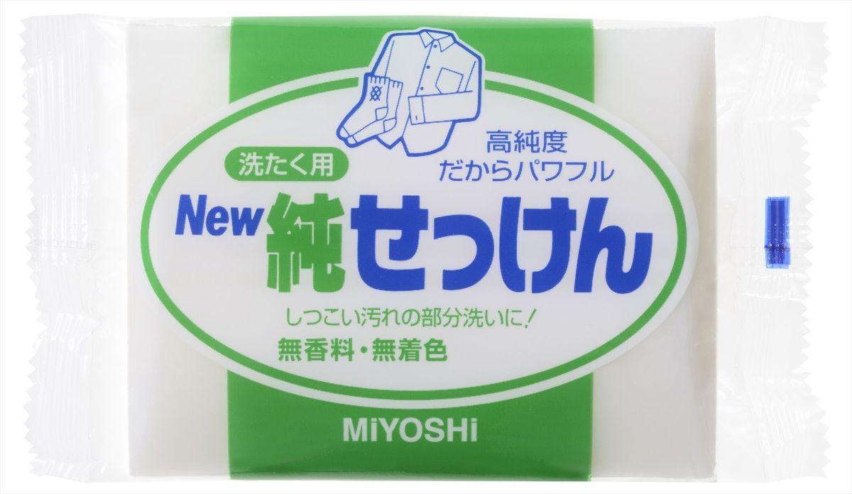 Мыло для стирки Miyoshi Miyosh, для точечного застирывания стойких загрязнений. 0431192202950Мыло прекрасно отстирывает загрязнения на воротничках и манжетах, легко справляясь с самыми трудными пятнами. Твердое, без красителей, без отдушек, с использованием при изготовлении натуральных масел и жиров. Меры предосторожности: Используйте строго по назначению. Не для стирки шелка и шерсти. После использования храните мыло в сухом месте. Состав: чистая (без примесей) мыльная основа (натриевая соль с содержанием жирных кислот 98%)