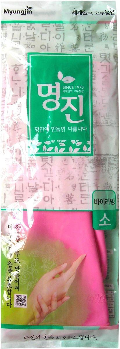 Перчатки хозяйственные Myungjin Rubber Glove. Buyliving, латексные, размер: S. H2465646Латексные перчатки защищают руки во время проведения бытовых и хозяйственных работ. Перчатки удобны в использовании, гигиеничны, долговечны. В области ладони и пальцев на перчатки нанесено противоскользящее покрытие. Края перчаток дополнительно обработаны износостойким веществом.Способ применения: используйте перчатки в бытовых целях. При необходимости сушите, вывернув наизнанку. В случае появления запаха тщательно промойте.Меры предосторожности: сушить, избегая попадания прямых солнечных лучей. Во избежание травм соблюдать меры предосторожности при работе с острыми предметами. Не использовать при работе с нефтепродуктами и химическими препаратами. Не класть в озоновые стиральные машинки и холодильники. В случае возникновения аллергии или раздражения кожи, прекратите использование или воспользуйтесь дополнительно неткаными перчатками марки MYUNGJIN.